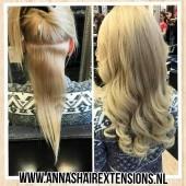 voor en na wax hairextensions