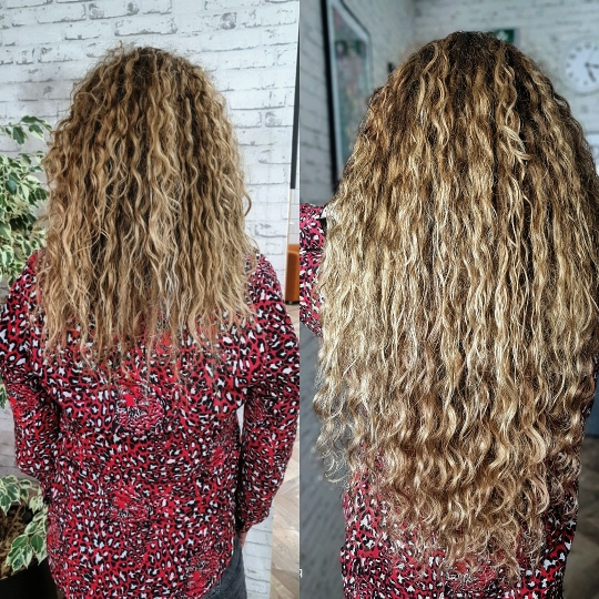 krullend hairextensions